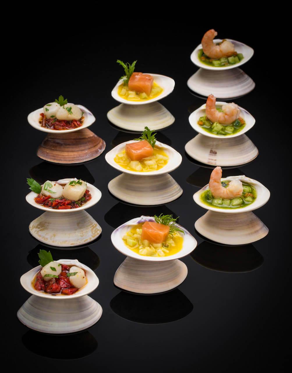 Les réalisations Lehmann Studio, photographe à Angers - shooting culinaire en studio bouchées de la mer