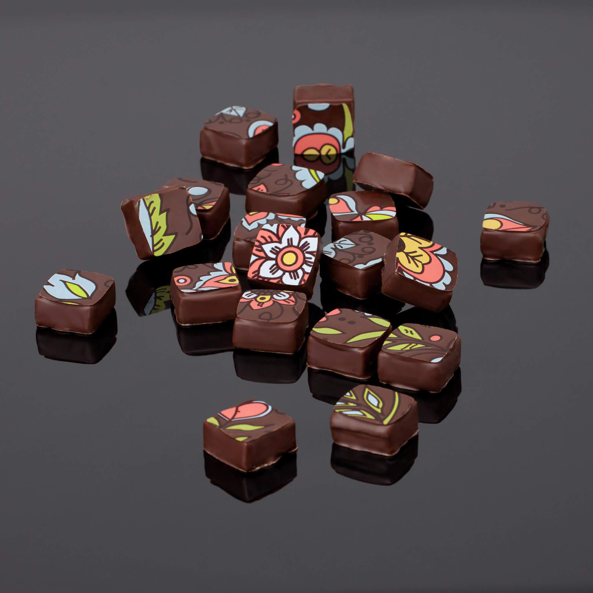 Les réalisations Lehmann Studio, photographe à Angers - shooting culinaire en studio chocolats