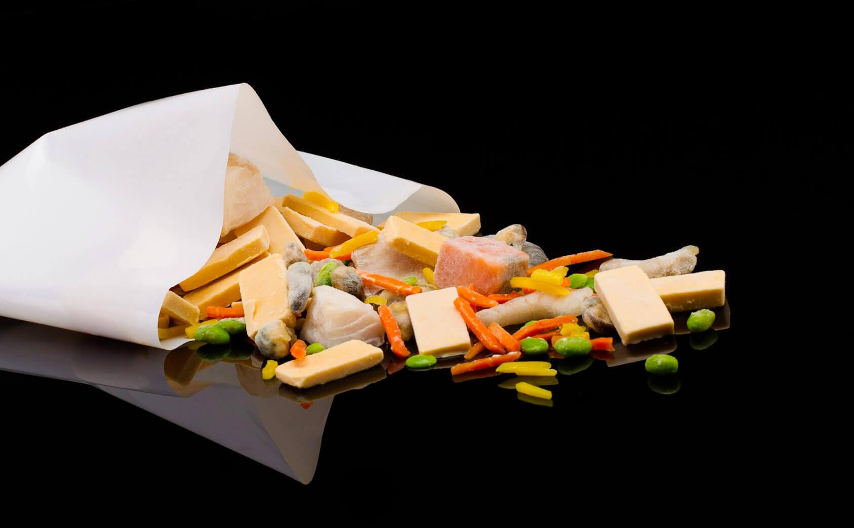 Les réalisations Lehmann Studio, photographe à Angers - shooting culinaire en studio légumes et poisson surgelés