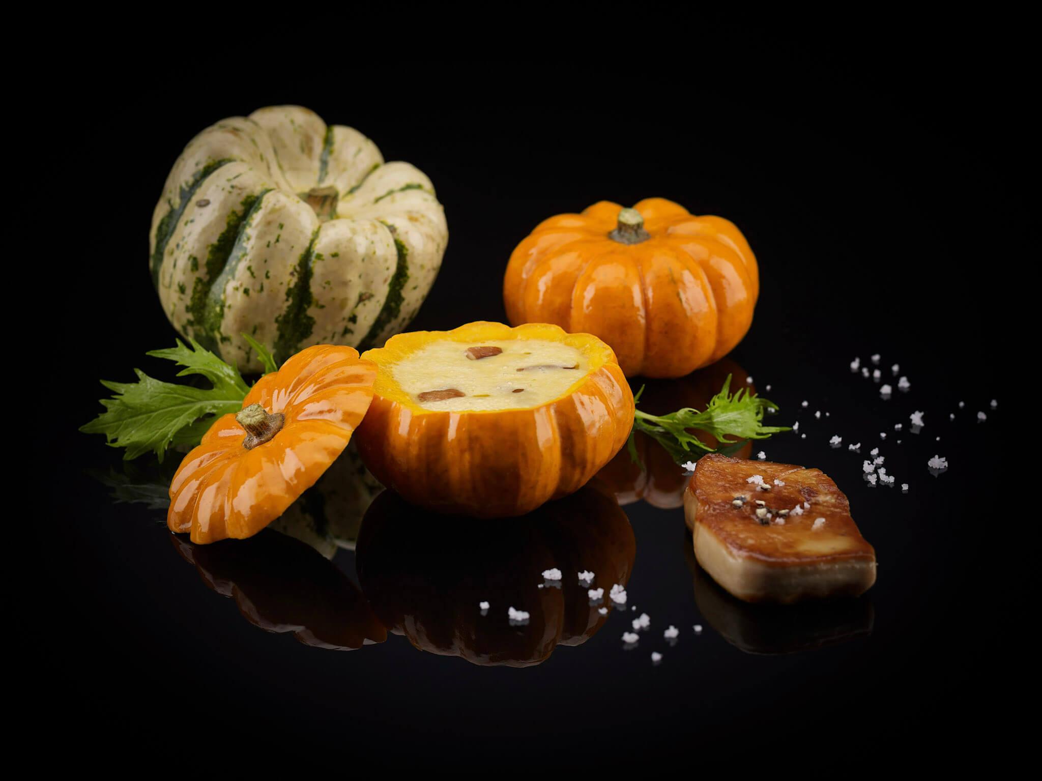 Les réalisations Lehmann Studio, photographe à Angers - shooting culinaire en studio soupe potimaron
