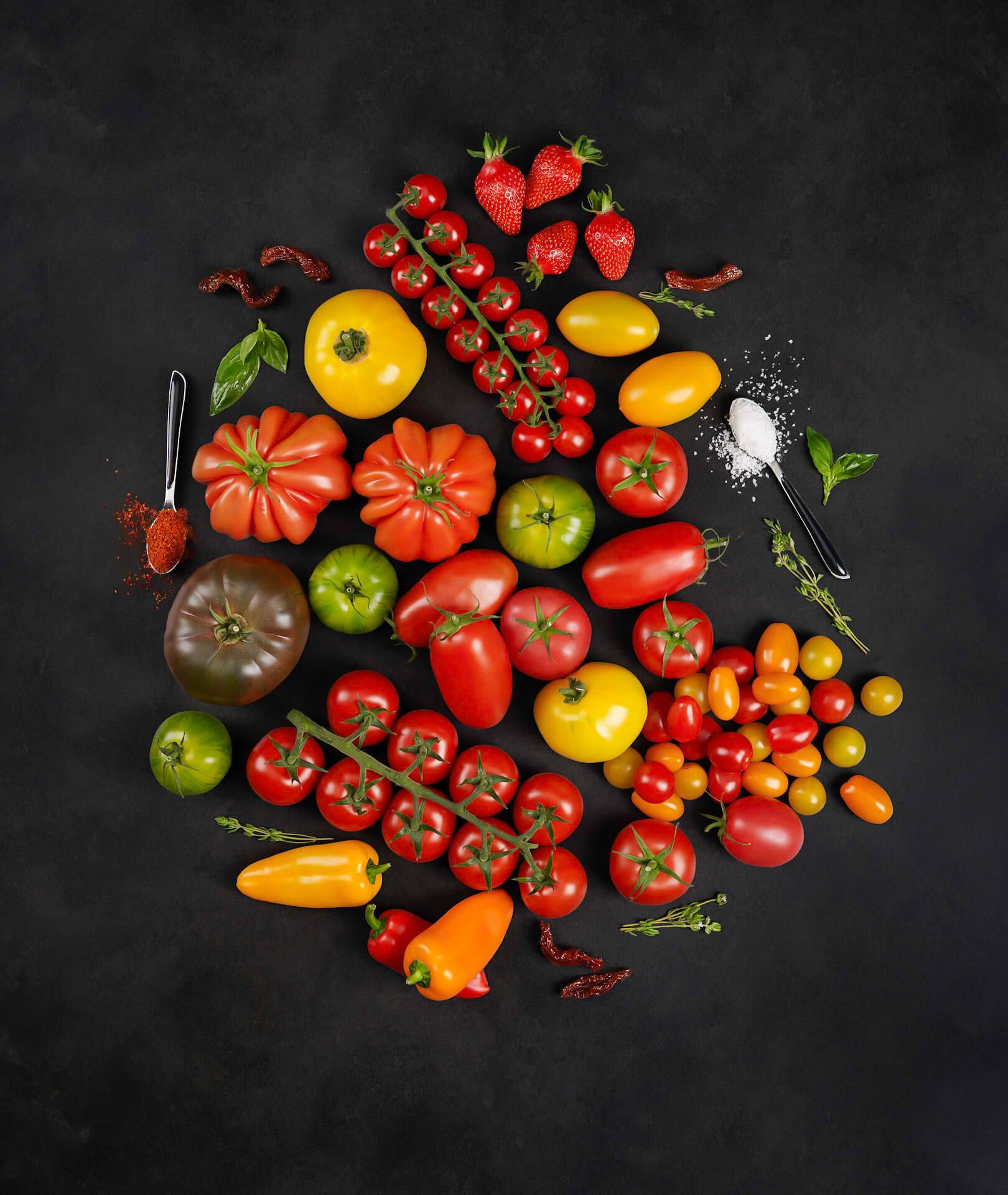 Les réalisations Lehmann Studio, photographe à Angers - shooting culinaire en studio tomates