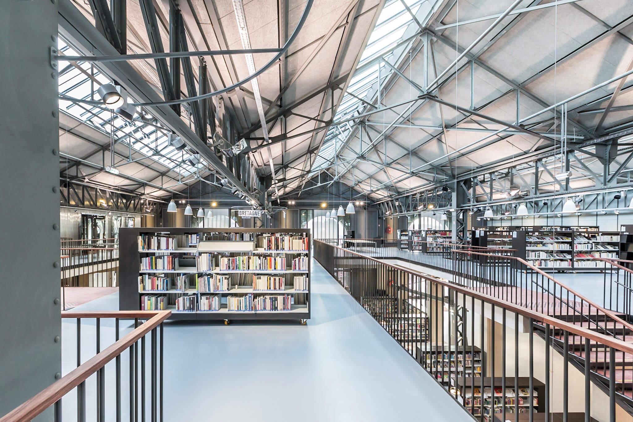 Les réalisations Lehmann Studio, photographe à Angers - reportage photo architecture Médiathèque des Capuçins